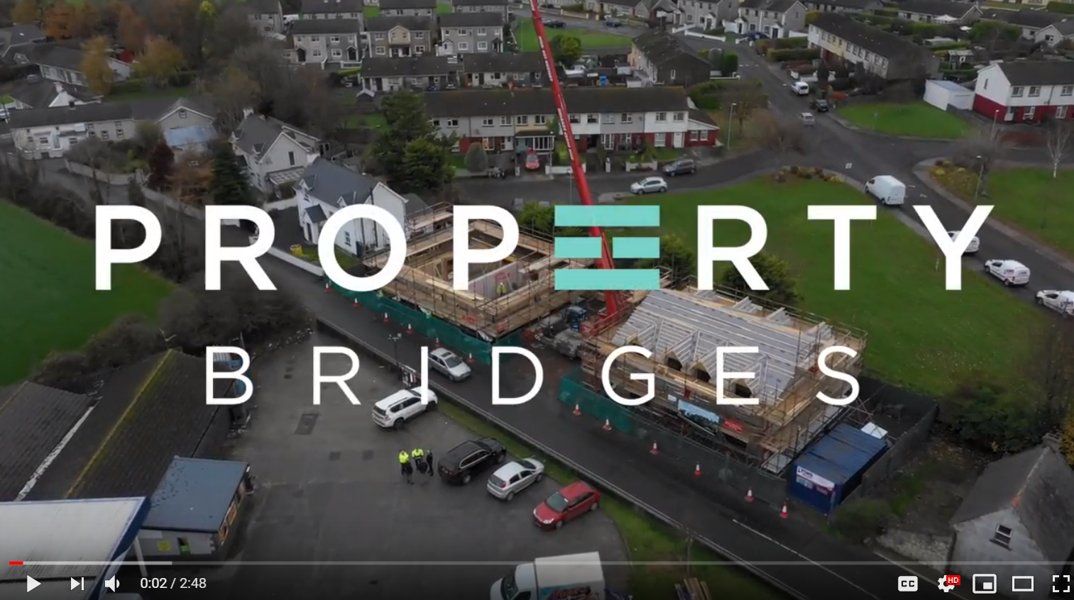 WATERFORD LIVE Nov 18 – Construction work underway on new social housing units near Waterford city
